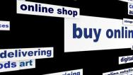 Stock Video Footage of Buy online business words hd animation