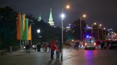 Manezhnaya street night timelapse Stock Footage