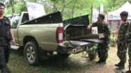 Stock Video Footage of Timber Smuggling Vehicle Hidden Compartment