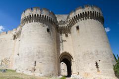 Castle entrance of villeneuve-les-avignon Stock Photos