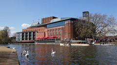 Royal Shakespeare Theatre Stock Footage