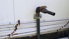 Old waste water pipe Stock Footage