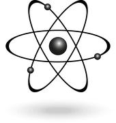 Atom. Nuclear power - stock illustration
