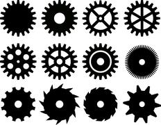 gears - stock illustration