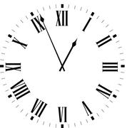 Clock dial - stock illustration