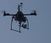 Multi-Rotor Drone flying over the Moore Plaza Towers Memorial - stock footage