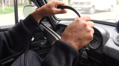 Old Lada steering wheel Stock Footage
