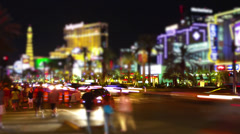 Time lapse of Las Vegas Strip traffic at night 15 Stock Footage