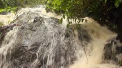 Rainforest river in Western Ecuador swollen after heavy rain  Stock Footage
