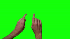 Zoom In Isolated Finger Gesture for a Touch Screen Stock Footage