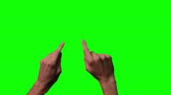 Zoom Out Touch Screen Finger Gesture on Green Screen Stock Footage