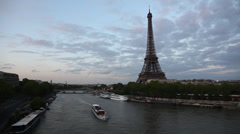 Paris France skyline in motion Stock Footage