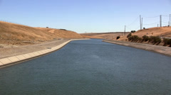 California aqueduct Stock Footage