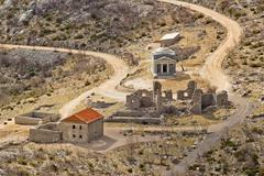 Stone church of st. franjo on velebit mountain Stock Photos