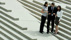 Successful Business People Wireless Technology Hot Spot Outdoors Stock Footage