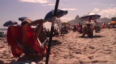 020-Brazil-Rio-De-Janeiro-Ipanema-People-Lifestyle-Beach Stock Footage