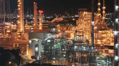 Power plant ,night scene Stock Footage