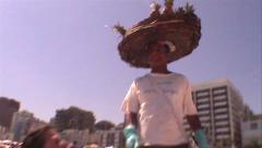 018-Brazil-Rio-De-Janeiro-Ipanema-People-Venders-Beach Stock Footage