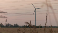 Stock Video Footage of Wind Engine and Acre with Sunset