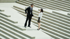 Male Female Multi Ethnic Business People Handshake Stock Footage