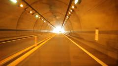 Rear View Driving Through Tunnel in Japan Stock Video - stock footage