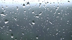 Rain drops on the window glass Stock Footage