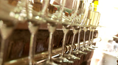 Sparkling Wine Glasses Stock Footage