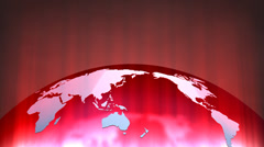 Glowing map, location, gps, satellite, geo-location, places. - stock footage