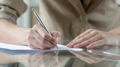 Writing a letter - stock footage