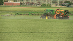 Crop Spraying Tractor on field Stock Footage
