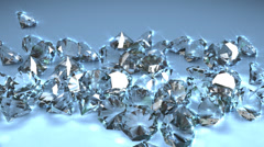 Diamond gemstones, precious, resource, mineral, natural. Stock Footage