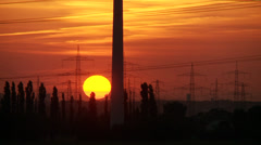 Wind Engine in Sunset Stock Footage