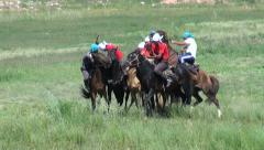 Nomadic horse games Stock Footage