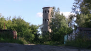 Stock Video Footage of Old industrial tower in Russia