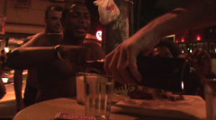 049--Rio-De-Janeiro-Ipanema-Churrasco-Night-Lifestyle-People Stock Footage