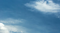 Sky and Thin Clouds-2B Stock Footage