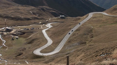 Twisting road, Alps Stock Footage