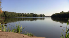 Panoramic view of a river in Russia Stock Footage