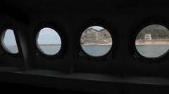 View From Inside Boat in Shirahama Japan Stock Video Stock Footage