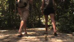 Brazil-Tourists-backpacker-Jungle-Hike Stock Footage
