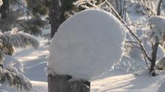 Cap of snow Stock Footage