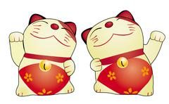 Japan cat doll Stock Illustration