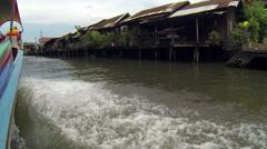 Longtail boat pov in Bangkok Khlongs Stock Footage