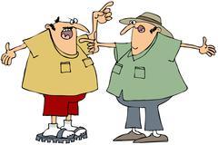 Two men arguing Stock Illustration
