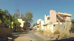 Driving through streets in Bangalore India - stock footage