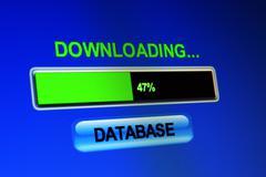 downloading database - stock photo