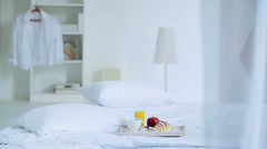 Breakfast in Bed Stock Footage