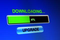 Downloading upgrade Stock Photos
