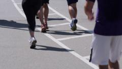Jogging feet legs Stock Footage