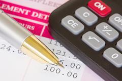 salary calculations - stock photo